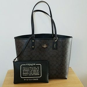 Reversible Coach Monogram Tote